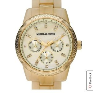Michael Kors Mother of Pearl gold tone watch